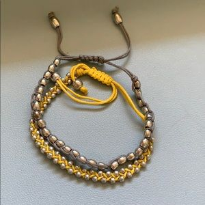 Two Drawstring Metal Bracelets